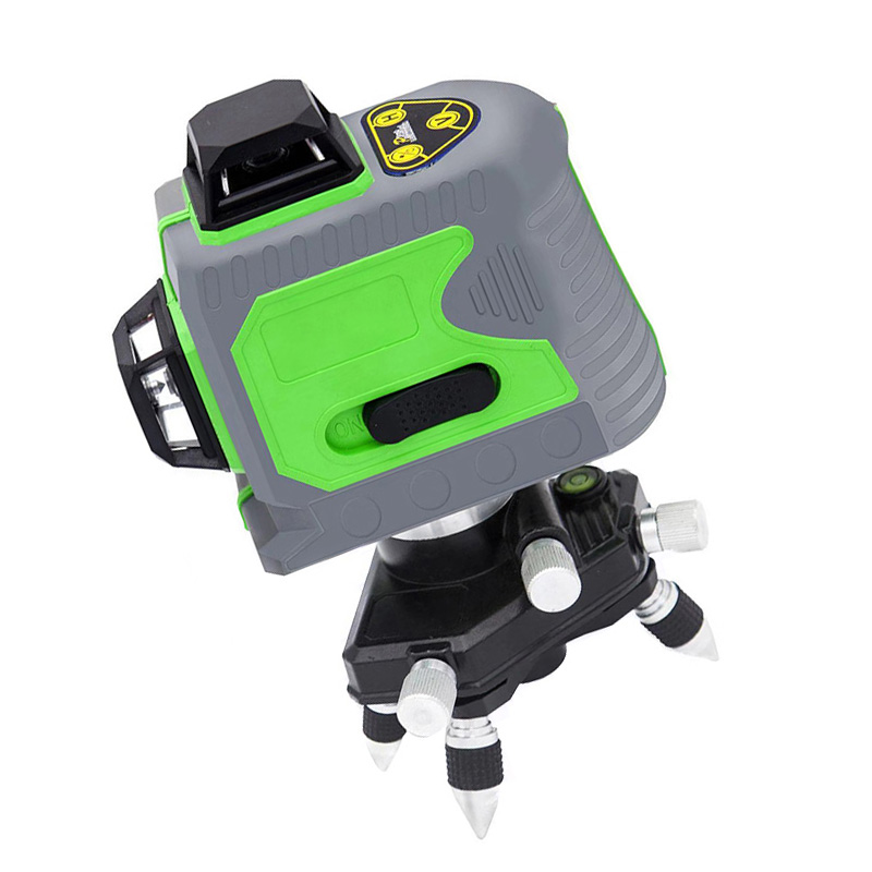 12 Line 3D Infrared Ray Waterproof Self-Leveling Pivoting Base with Green Beam MJJ8812 Line 3D Infrared Ray Waterproof Self-Leveling Pivoting Base with Green Beam MJJ88