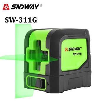 SNDWAY laser ebene Grün 2 linien selbst nivellierung laser Leveler Vertikale Horizontale Kreuz laser rot strahl linie messgerät