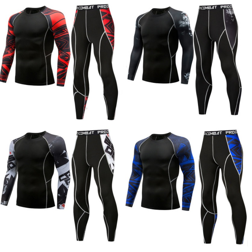 Men's Tracksuit Compression Tight Thermo Underwear For Men Vetement Homme Quickly Drying Sets