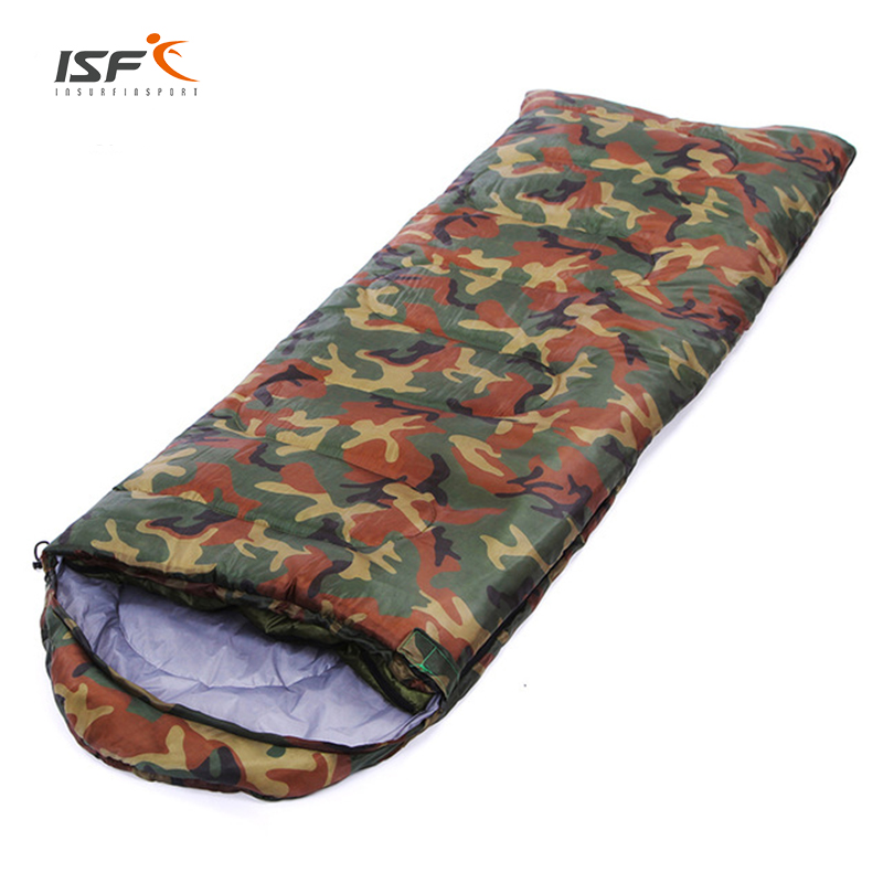 ISF High Quality Outdoor Envelopes Waterproof Warm Autumn Winter Camping Hiking Equipment Adult Sleeping Bags