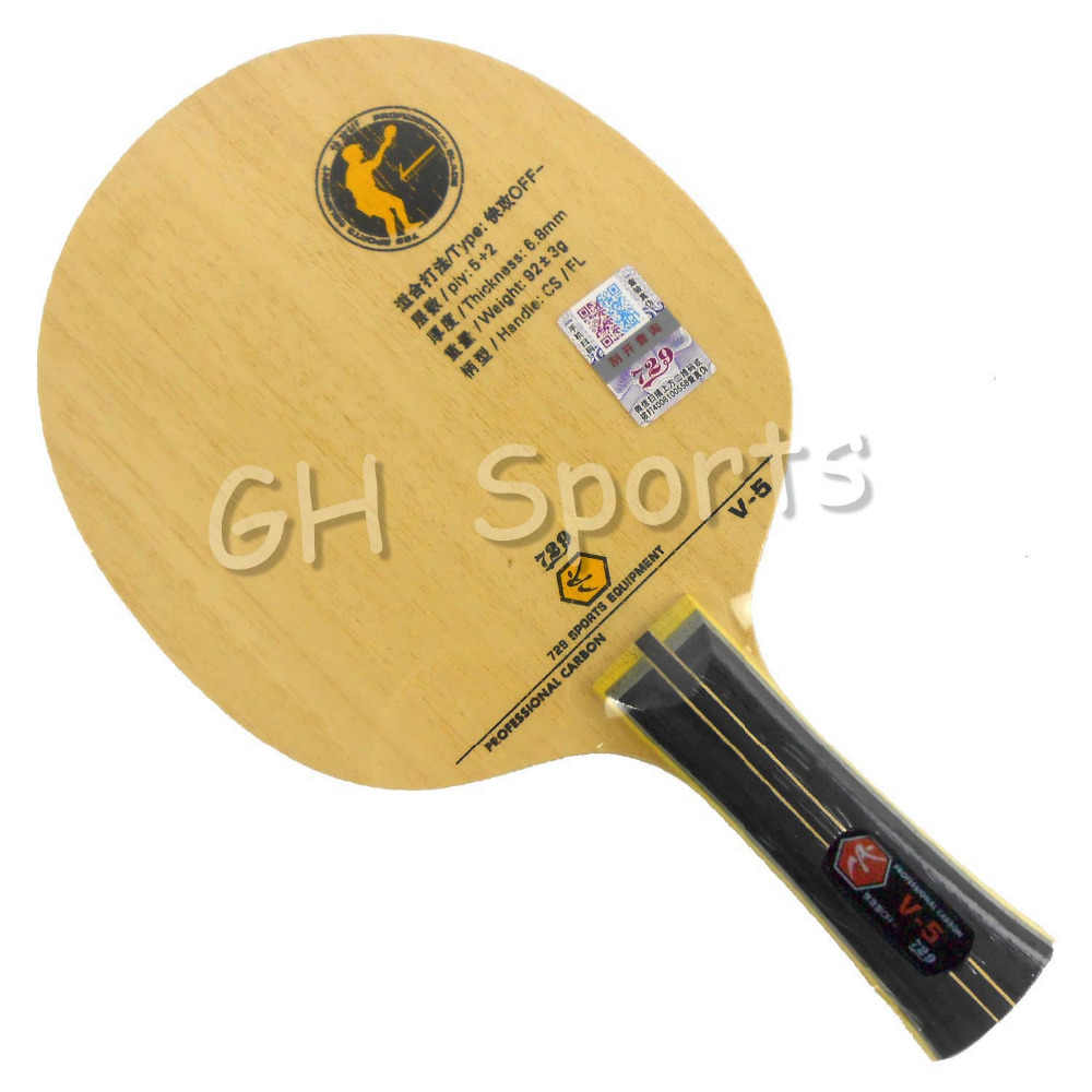RITC 729 Friendship V-5 V5 V 5 Professional Carbon OFF- Table Tennis Blade for PingPong Racket