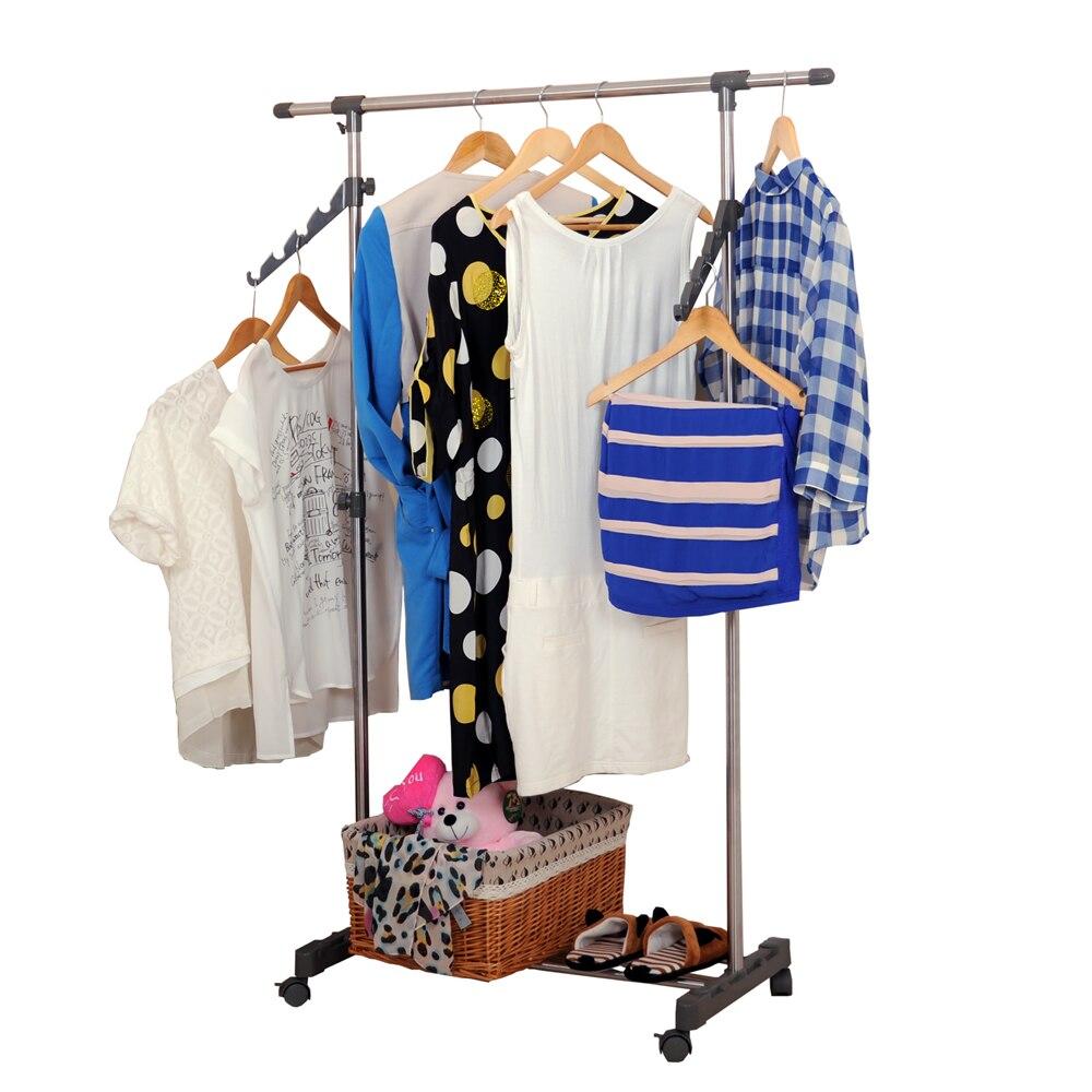 BAOYOUNI Unique Design Rolling Garment Rack with Hangers DQ-0057D