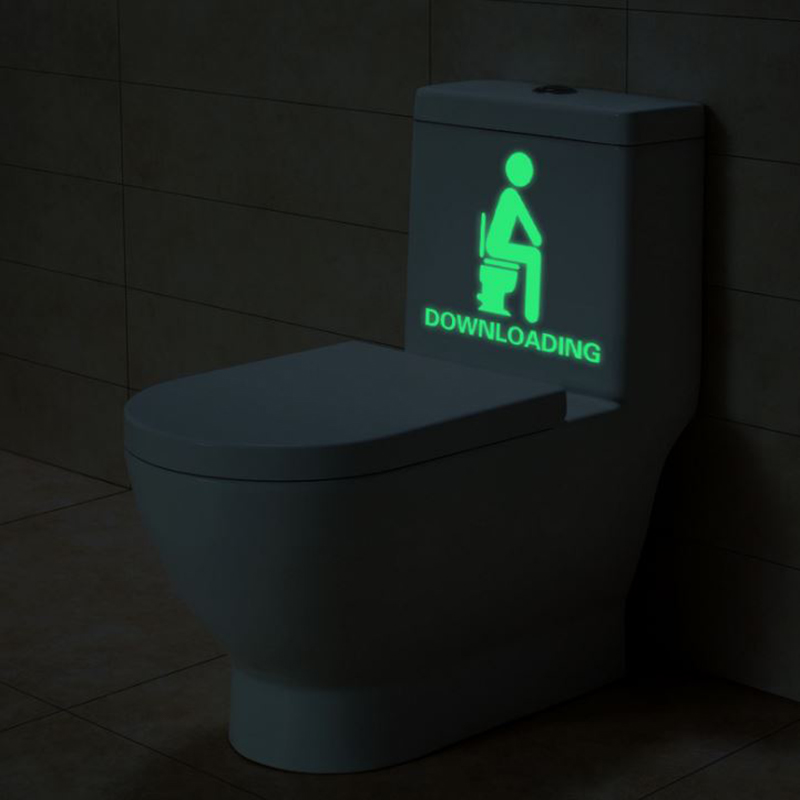 1 Pc New Bathroom Luminous Toy Toilet Stickers Downloading Luminous Stickers Glow In The Dark Stickers