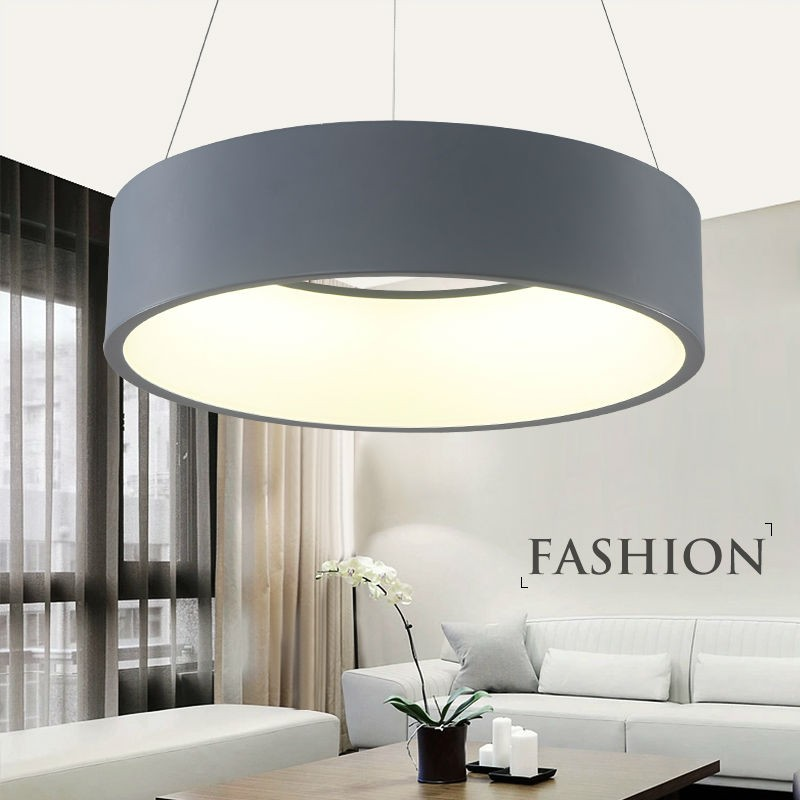Free Shipping Modern Led Pendant Lights Circle Suspension