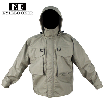 Mężczyźni Outdoor Hunting wader Jacket odzież wędkarska kamuflaż wodoodporna kurtka brodząca wiatroszczelne wodery płaszcz ubrania wędkarskie tanie i dobre opinie Kylebooker Ripstop Kurtki Unisex Pasuje prawda na wymiar weź swój normalny rozmiar AUTUMN Winter 3-Layer Waterproof Fabric