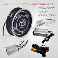 QS Motor 13inch 273 3000W Single Shaft In Wheel Hub Motor Electric Motorcycle Conversion Kit