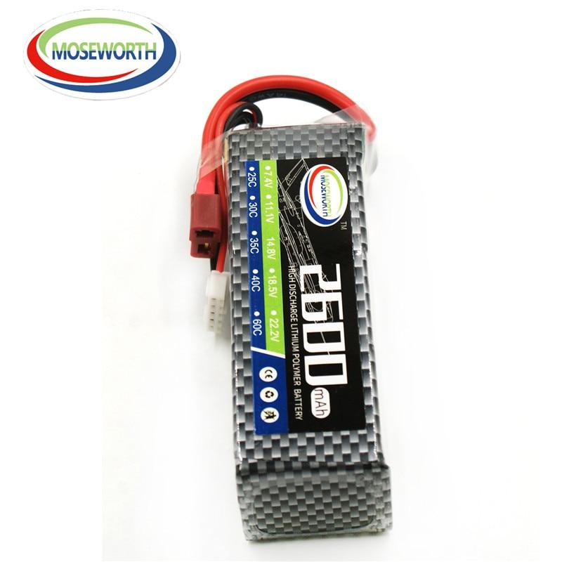 MOSEWORTH 4S RC Lipo Batería 14.v 2600mAh 35C Para RC Aviones - Juguetes con control remoto - foto 6