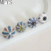 Ceramic Flower Dresser Knobs Kids Cabinet Porcelain Chic Drawer Furniture Hardware Cupboard