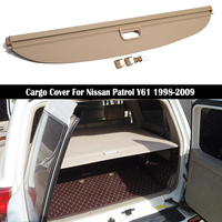 Rear Cargo Cover For Nissan Patrol Y61 1998 2009 privacy Trunk Screen Security Shield shade Auto Accessories