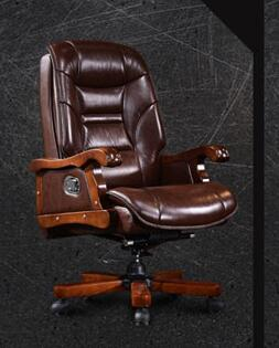 Real leather computer desk and chair. A single table can be reclined. E-sports chair..