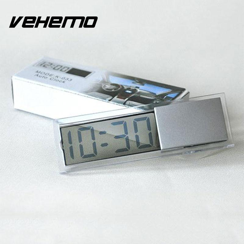 Digital LCD Display Car Electronic Clock With Sucker Cool Car Digital Clock 2017 New Mini Car