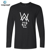 DJ Alan walker Faded camiseta manga larga Camiseta hombres Hip Hop moda  camiseta hombres moda Hip hop camisetas homme Alan . b5d8bc911c6