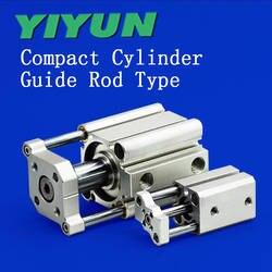 YIYUN Компактный цилиндр Направляющая штанга Тип CQMB/CDQMB100-5 CDQMB100-10 CDQMB100-15 CDQMB100-20 CDQMB100-25/30/40/45/50/60/75/100