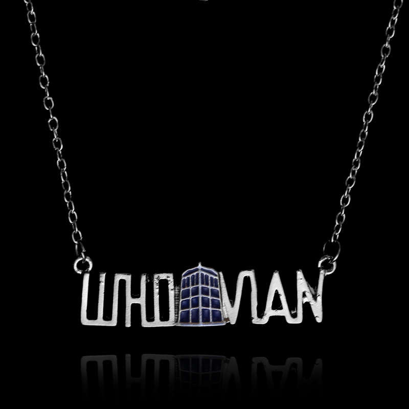 Doctor Who Dr Mysterious Tardis Vintage Blue Police Box Alloy Pendant Necklace High Quality Gift For Women Men Fashion Jewelry