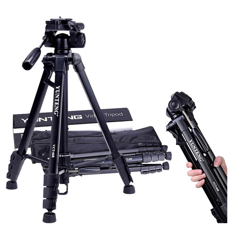 YUNTENG VCT-668 Digital Camera Professional  for Canon Nikon Digital DV Tripod Professional tripod aluminum alloy material new professional aluminum alloy yunteng vct 668 tripod for slr dslr camera maximum load 3kg with carry bag
