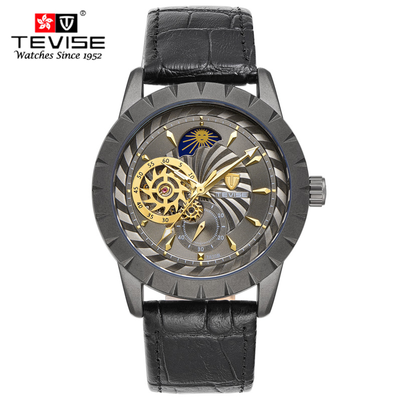New Black Men's WristWatch Clock Leather strap Antique Steampunk Casual Automatic Skeleton Mechanical Watches Male erkek saat mce men wristwatch skeleton clock male leather strap antique steampunk casual automatic skeleton mechanical watches 347
