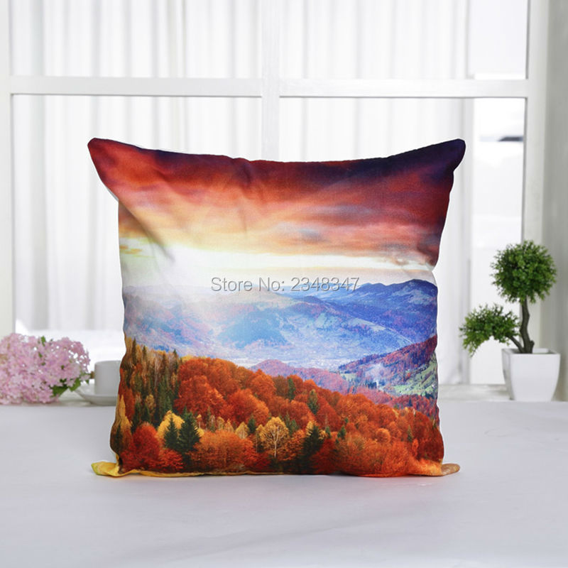 View Scenic Scenery Fire Balloon Lavender Painted Draw Soft Velvet