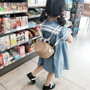 Small big Back Basket Children Bicycle Basket Handmade Tattan bag Basket kid's backpack