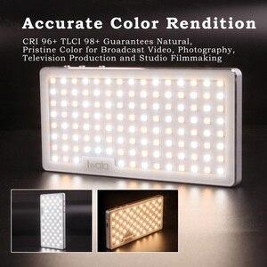 Image 5 - Iwata Tasche FÜHRTE Telefon Video Fotografie Licht OLED Display Ultra Dünne Aluminium CRI96 + Dimmbare 3000 k 5500 K w/Batterie & Stativ