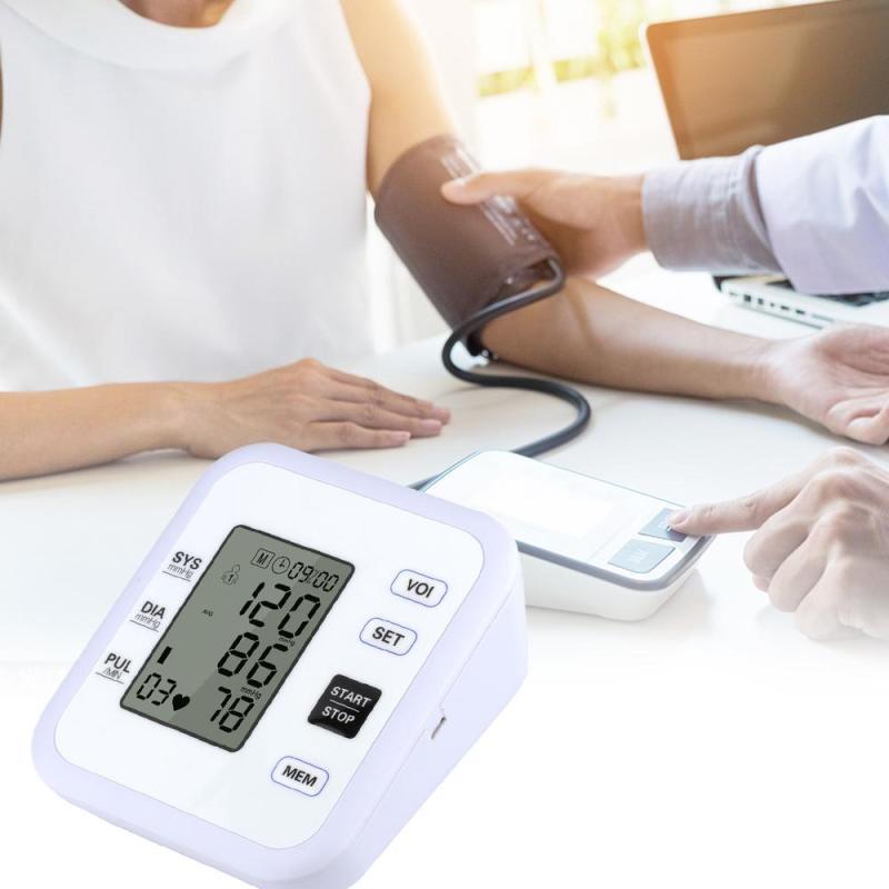LCD Home Health Care Digital Blood Pressure Monitor Portable Meter Machine sphygmomanometer Tonometer Measuring Automatic C3