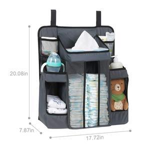 Image 4 - Bolsa de maternidade para bebês, fralda para bebês, organizador de berçário, pendurado, berço, fralda, designer, molhado/seco, grande, à prova d água, saco de enfermagem para viagem