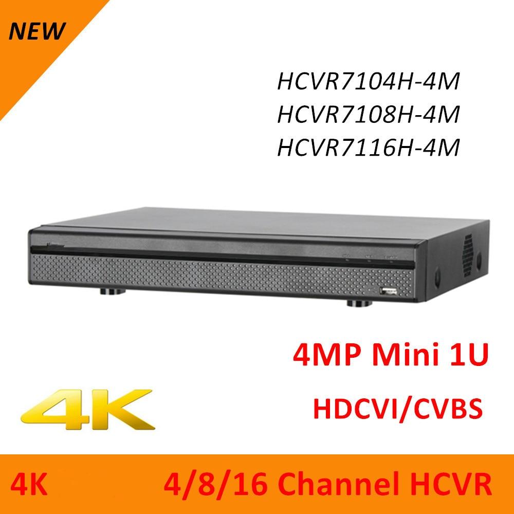 DH 4k HCVR7104H-4M HCVR7108H-4M HCVR7116H-4M 4CH 8CH 16CH 4MP Mini 1U Digital Video Recorder each channel up to 8MP ultralink mcv 4m bulk matrix 2 series component video cable 4m bulk packaging