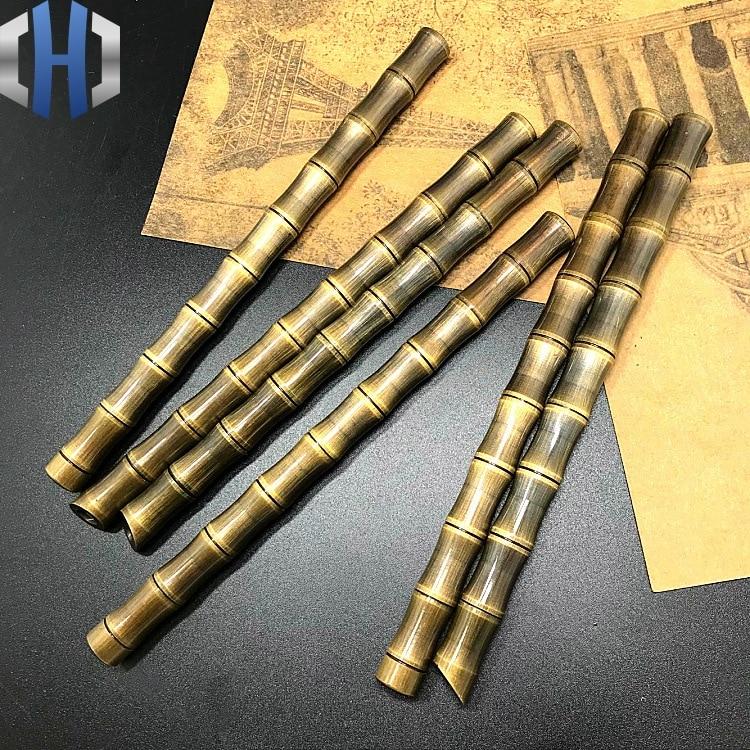 Bamboo EDC Tactical Defense Bronze Pen Outdoor Camping Brass Signature Write Pen
