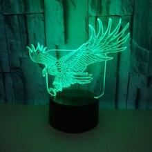 3D светодиодный ночник с орлом фигурки животных USB прикроватная Спальня 3D настольная лампа USB внутренний Декор атмосферная лампа подарок на день рождения