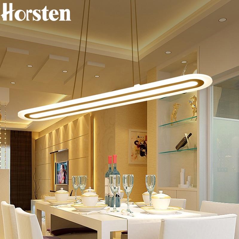 Horsten Modern LED Pendant Lights For Kitchen Living Dining Room 40/60/80/100cm Long Acrylic LED Hanging Lamp 110-220V