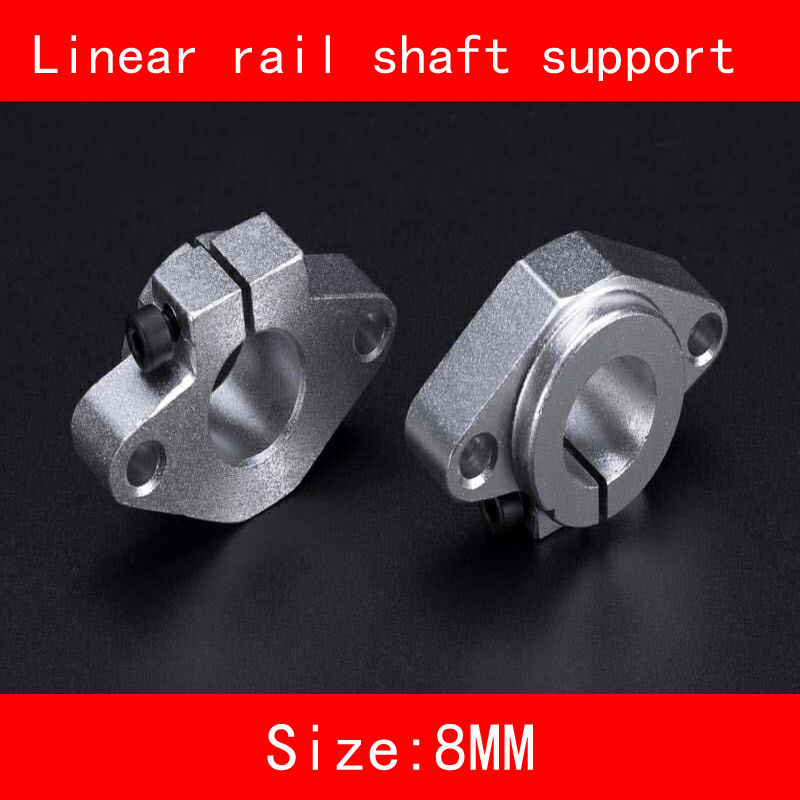 2piece/lot Aluminium linear rail shaft fixed seat 8mm SK8 SH8A Linear Rail Shaft Support horizontal CNC part 3d print 2pcs lot sk35 35mm linear rail shaft guide support cnc brand new