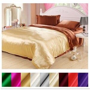 Image 1 - Capa de edredão de seda 1pc 2 lados cores diferentes 100% mulberry seda multicolorido seda sólida 2 cores podem ser personalizadas ls180101