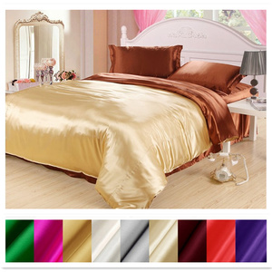 Image 1 - Silk Duvet Cover 1pc 2 Sides Different Colors 100% Mulberry Silk Multicolor Silk Solid Silk 2 Colors can be customized ls180101