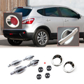 New Set Chrome Door Handle Cover + Cup Bowl + Rear Fog Lights Cover + Door Striker Cover for Nissan Qashqai 2007 2008 2009 2010