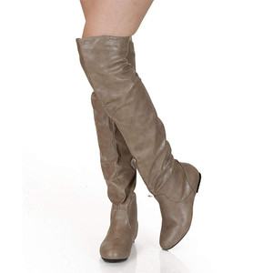 Image 2 - MORAZORA 2020 plus size 48 women over the knee boots pu round toe autumn winter boots simple casual shoes woman Chelsea boots