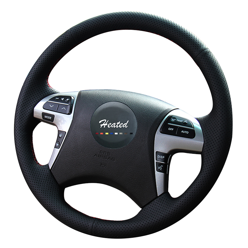 Steering Wheel Cover for Toyota Highlander 2009-2014 Camry 2007-2011 Car accessories braid on the steering wheel