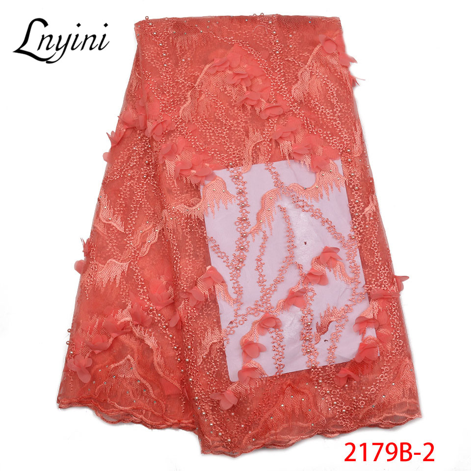 Best Selling 2018 Products French Beaded Lace Fabric High Quality African tulle Lace Fabric For Nigerian