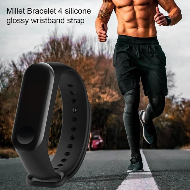New Wrist Strap Replacement For Xiaomi Mi band 4 Millet Bracelet Colorful Smart Wristband Strap Silica Gel 5