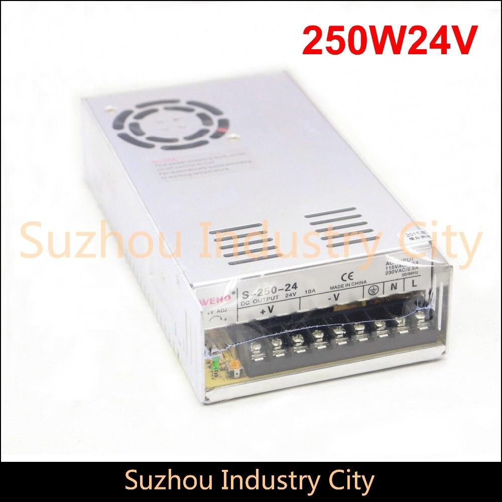 цена на DC Switching Power supply 110V / 220V  input 250W output 24V DC Power Supply Switch Power Supplies! High Quality!