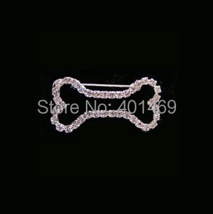 2017 new rhinestone 2size pet bone charm fashion pin brooch ornament jewelry accessory for man for