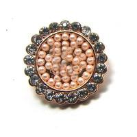 Nuevos cristales de la perla de oro rosa de metal del encanto del esmalte 12 unids lot envío de la manera flatback botones de espiga accesorios de decoración