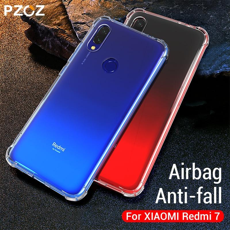 PZOZ redmi 7 custodia in silicone antiurto per xiaomi redmi 7 trasparente coperchio di protezione di goccia redmi 7 di protezione della copertura di shell