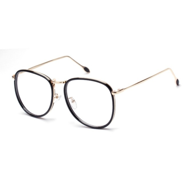 9a748581030 Fashion Women Men Retro Nerd Glasses Metal Frame Clear Lens Eyewear Brand  Designer Spectacles Eyeglasses S4
