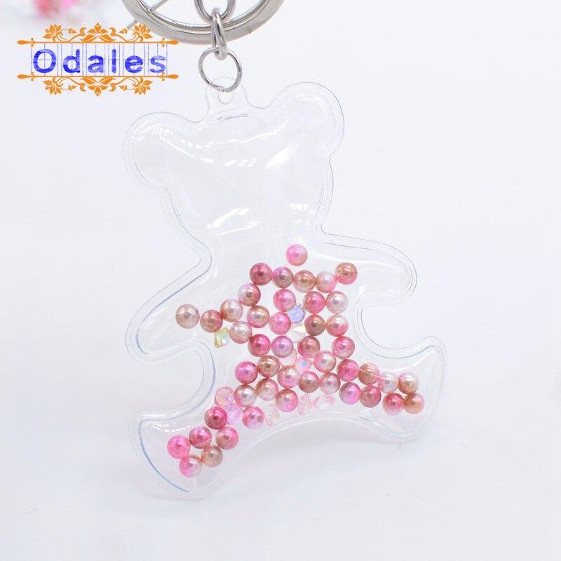 10Pcs Transparent Shell Starfish Unicorn Bear Patches Flowing Pendant Applique Hair Clip Accessory Key Ring Craft Handmade Decor
