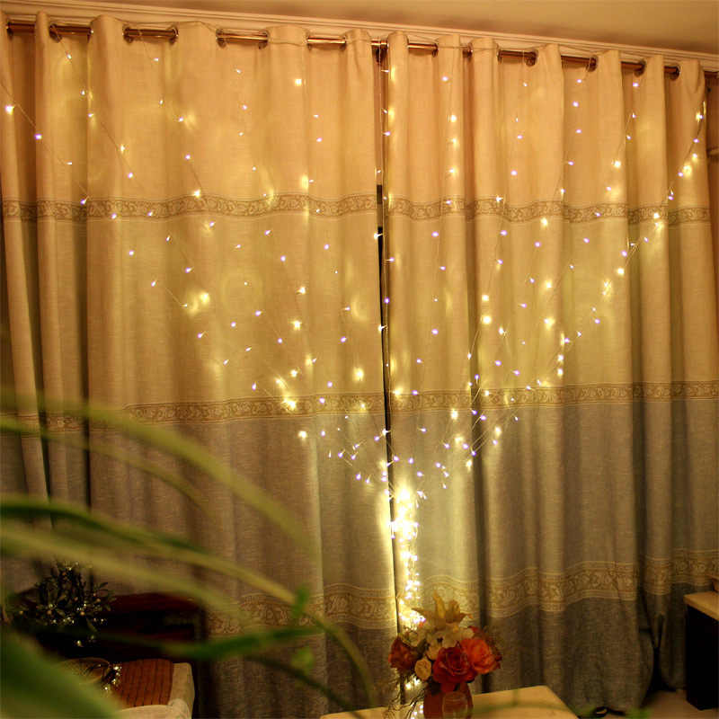 2 м светодиодный сосулька Шторы свет шнура Крытый фестиваль Свадебная вечеринка Garden Plaza окно открытый украшения Xmas Светодиодные ленты огни