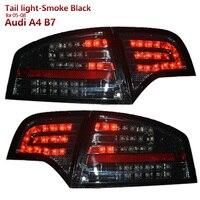 SONAR бренд высокое качество светодиодные задние фонари в сборе для Audi A4 B7 2005 2008 год дым черный Корпус LED Бег свет