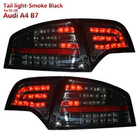 SONAR Brand High Quality LED Tail lights Assembly for Audi A4 B7 2005 2008 year Smoke Black Housing LED running light
