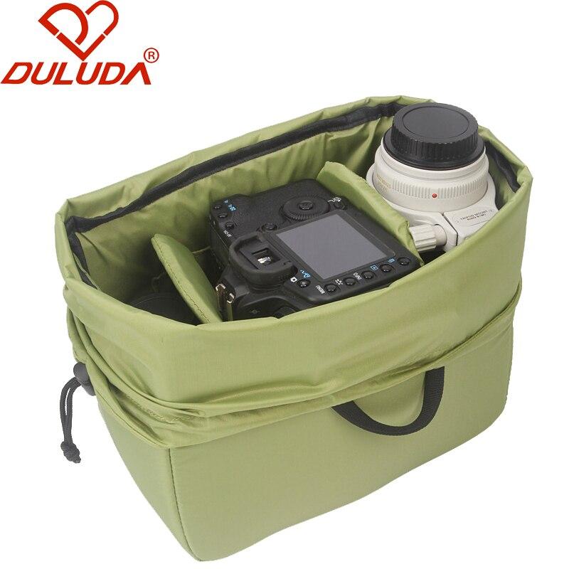 DULUDA Digital SLR Camera Storage Bag Lens  Liner Package Anticollsion Shockproof  Waterproof for Canon Nikon camera lens waterproof shockproof case dry storage seal box