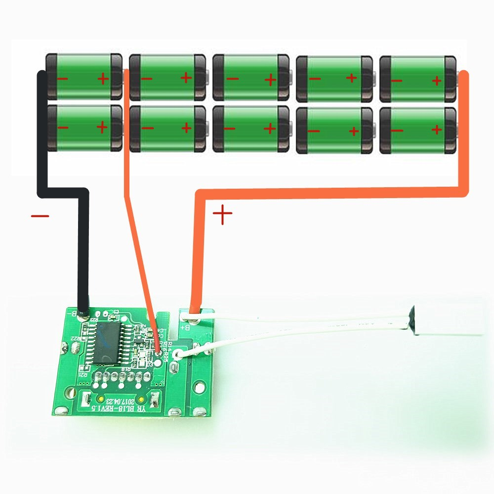 small resolution of pcb circuit board replace for makita bl1830 bl1815 bl1845 bl1860 lxt400 18v 3 0ah 6a lithium battery charging protection chip in replacement batteries from