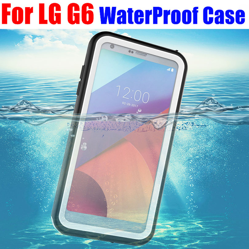 online retailer ca7b8 9d939 Original IP68 Shock Drop Waterproof Case For LG G6 Diving Underwater PC +  TPU Armor Cover For LG G6 G601