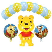 Winnie the Pooh and Honey Tree Foil Balloons 13 Pcs/Set Happy Birthday Decorations Air Childrens Day Decoration